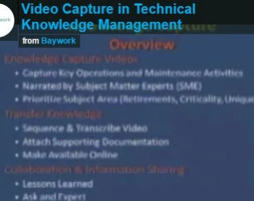video capture in technical knowledge management snip