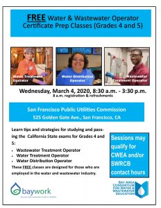 BAYWORK website registration operator prep classes flyer